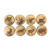 8 Piece Set Vintage Woodland Animals Cabinet Knobs