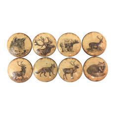 Twisted R Design - 8 Piece Set Vintage Woodland Animals Cabinet Knobs - Cabinet and Drawer Knobs