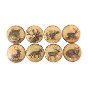 8 Piece Set Vintage Woodland Animals Cabinet Knobs