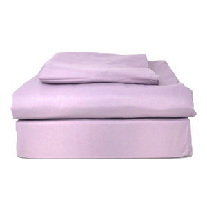 Solid Super Soft Colorful Bed Sheet Sets, Purple, Full