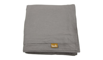 """Linen Duvet Cover Warm Gray King Size 106""""x94"""" Buttons and Corner Ties"""