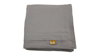 "Linen Duvet Cover Warm Gray King Size 106""x94"" Buttons and Corner Ties"
