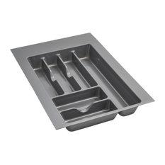 Medium Silver Glossy Cutlery Organizer