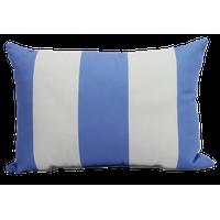 "Decorative Striped Outdoor Throw Pillow, Light Blue, 14""x20"""