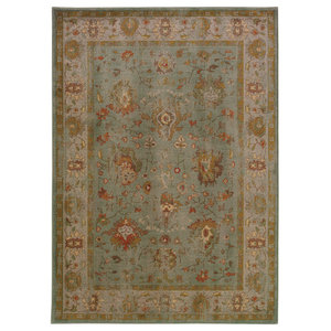 "Colette Oriental Blue and Gray Rug, 1'10""x3'3"""