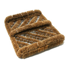 Herringbone Coir Boot Scraper Brush