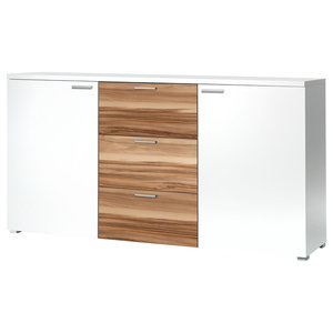 Torero White and Walnut Sideboard