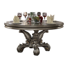 ACME Versailles Dining Table, Antique Platinum