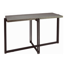 Dakota Console Table With Metal Top