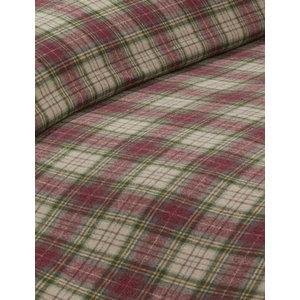 Haslingden Duvet Cover Set, Red, Double 200x200 cm