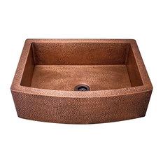 Single Bowl Copper Apron Sink, Sink Only