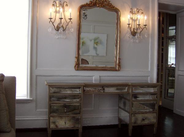 Antiqued Mirrored desk