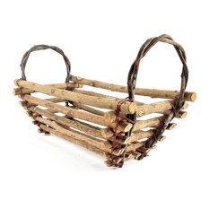 - Handcrafted Primitive Twig Serving Tray - Baskets