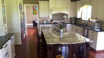 Two tone kitchen countertops