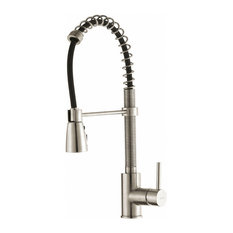 Kraus USA, Inc. - KRAUS Commercial 1-Handle Pre-Rinse Pull Down Kitchen Faucet, Stainless Steel - Kitchen Faucets