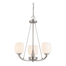 Helium 3 Light - Chandelier With Satin White Glass