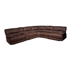 Parker House Pegasus 6-Piece Power Recliner Sectional Dark Kahlua