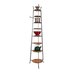 Enclume Handcrafted 8-Tier Gourmet Cookware Stand With Shelves, Hammered Steel