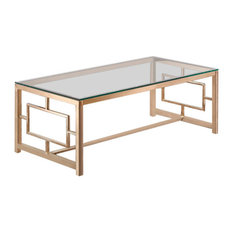 Athena Coffee Table, Rose Gold