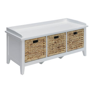 Excellent Loring Entryway Storage Bench White Tropical Accent And Cjindustries Chair Design For Home Cjindustriesco