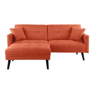 Excellent Jaxx Distressed Cotton Convertible Sleeper Loveseat And Creativecarmelina Interior Chair Design Creativecarmelinacom