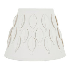 """39281 Empire Laser Cut Shaped Spider Lamp Shade, Off-White, 9"""" wide (5""""x9""""x7"""")"""