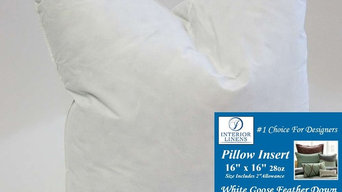 "*Exclusive 16"" x 16"", 28oz. 90/10 White Goose Down Pillow Insert"