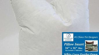 """*Exclusive 16"""" x 16"""", 28oz. 90/10 White Goose Down Pillow Insert"""