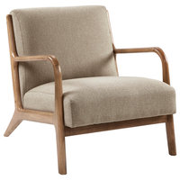 INK+IVY Novak Lounge Chair, Taupe