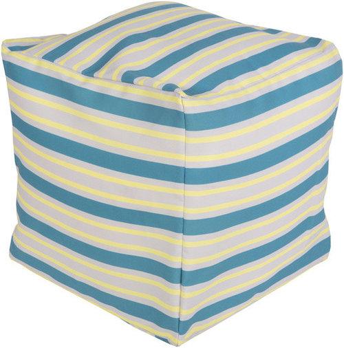 Surya Poufs- (POUF-281) - Floor Pillows And Poufs