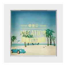 "Vacation Fund Shadow Box Frame, White, 6""x6"""