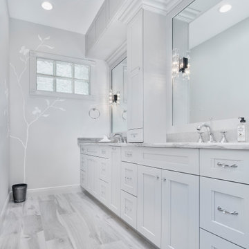 Transitional Master Bathroom in Naples, FL
