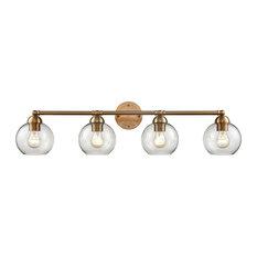 Thomas Lighting Astoria 4-Light Bath Bar CN280415, Satin Gold