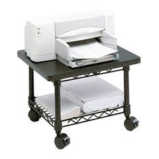 Safco Under-Desk Steel Frame Printer/Fax Stand in Black