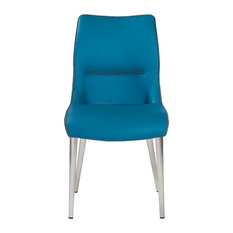 Eye-Catching Turquoise Blue Conference Chair, Set Of 2