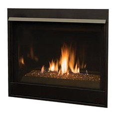 "Superior 35"" Top/Rear DV Contemporary Electronic Fireplace, Natural Gas"