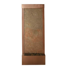 Bluworld waterfall fountain 4' Coppervein Gardenfall with Slate Panel(RM)