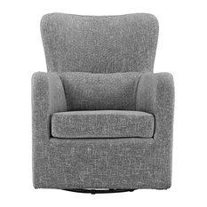 Exceptionnel Sofamania   Modern Contemporary Armchair, Swivel Accent Chair, Light Gray    Armchairs And Accent