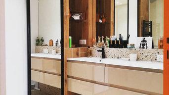 Salle de bain - Double vasque - Placard