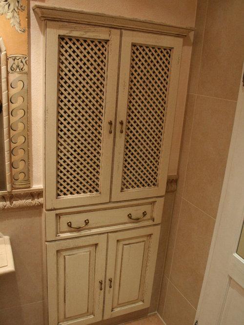 Mediterranes Badezimmer Creme Weiß, Badezimmer Ideen