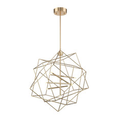 """Lite Source LS-19856 Stacia 9 Light 26"""" Wide LED Abstract Globe Chandelier"""