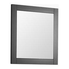 Barolo Bathroom Mirror, Matte grey, 64x60 cm