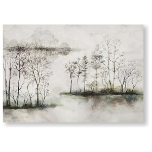 """Watercolour Forest"" Printed Canvas, 100x70 cm"