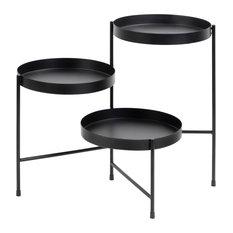 Finn Tiered Metal Plant Stand, Black 13x13x22