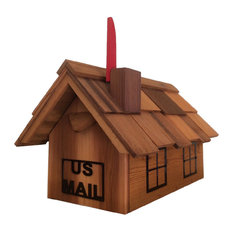 Large Chimney Flag Mailbox With Metal Art Windows