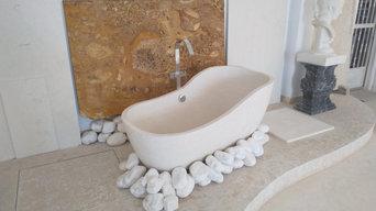 Bañera en Mármol blanco caliza