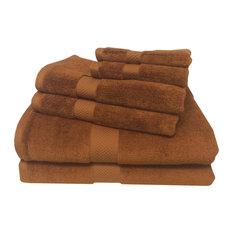 Royal Tradition   Bamboo Cotton 6 Piece Towel Set, Copper   Bath Towels