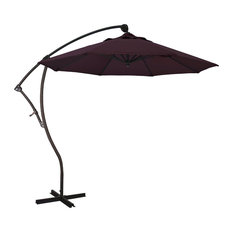 9' Cantilever Umbrella Deluxe Crank Lift, Bronze, Pacifica, Purple
