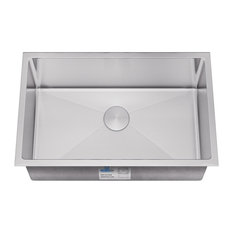 Extra Large Single Bowl Handmade Stainless Steel Kitchen Sink With Radius