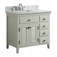 "1st Avenue - Callum Cream Bathroom Vanity With Marble Counter, 36"" - Bathroom Vanities and Sink Consoles"